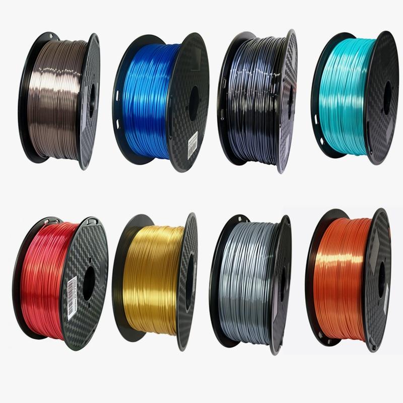Silk Pla 3D Printer Filament 1.75mm 1kg Shine Silky Gold 1000g 3d Pen Printing Filament Rich Luster Metal Metallic Material