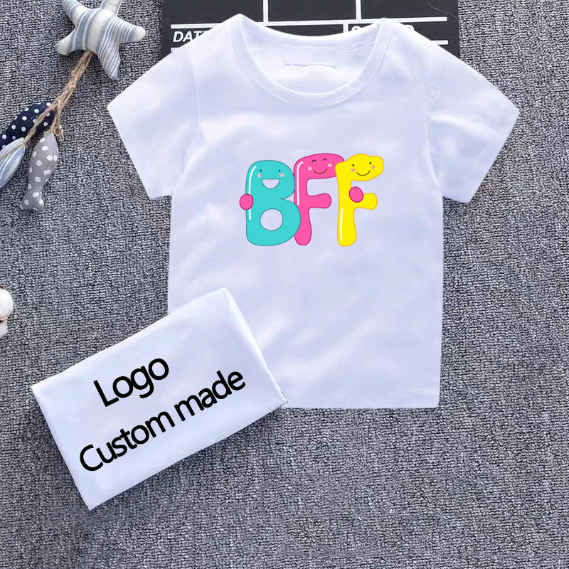 Brand <font><b>Kids</b></font> 2-10t Baby Boys Girls T-<font><b>Shirt</b></font> New Summer Short Sleeve Tees Children's Tops Clothing Bff <font><b>Best</b></font> <font><b>Friends</b></font> Forever P Tshirt image