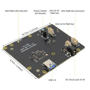 Image 3 - Raspberry Pi 4 SATA, Raspberry Pi 4 รุ่นB 2.5 นิ้วSATA HDD/SSD Shield,x825 V1.5 สำหรับRaspberry Pi 4B