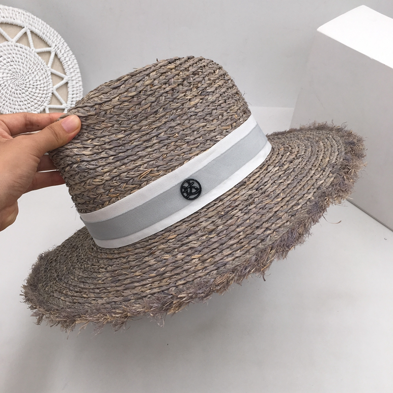 Spring and summer new flash large gray eaves straw hat female fashion holiday beach sea sun