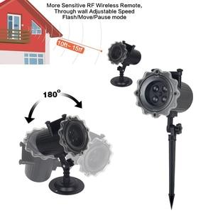 Image 3 - Proyector láser de Navidad con efecto de animación, IP65, para interiores y exteriores, Halloween, 12 patrones, copo de nieve, muñeco de nieve