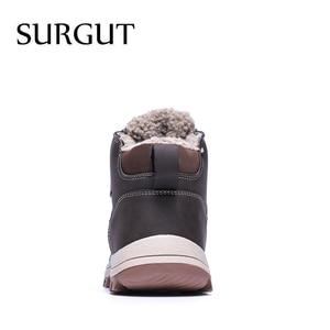 Image 4 - SURGUT 2021 패션 겨울 눈 부츠 남성 캐주얼 신발 성인 품질 고무 높은 상위 슈퍼 따뜻한 봉 제 따뜻한 발목 부츠
