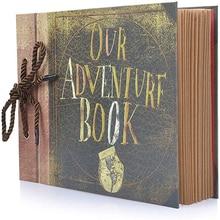 80 Pages Retro  Our Adventure Book Photo Album Handmade DIY Family Scrapbook for  Christmas Anniversary Wedding Birthday
