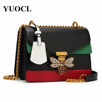 Bee Pu Leather Crossbody Bags For Women 2021 Chains Shoulder Messenger Bag Female Ladies Satchels Sling Luxury Handbags Designer 1