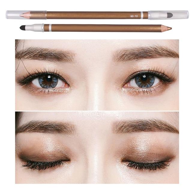 1 Pcs Color Long Lasting Eye Liner Pencil Waterproof Eyeliner Brush Smudge Proof Cosmetic Beauty Makeup Liquid Eye Shadow TSLM1 5