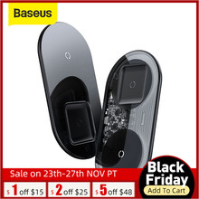 BASEUS 2 in 1 ชาร์จไร้สายสำหรับiPhone 11 XR XS 8 สำหรับPodsสำหรับSamsung Xiaomi wireless ChargerสำหรับHuawei