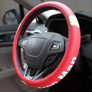Image 5 - Cool Cartoon Car Steering Wheel Covers Case Comfortable Anti Slip Auto Steering Wheel Cover Car Accessories