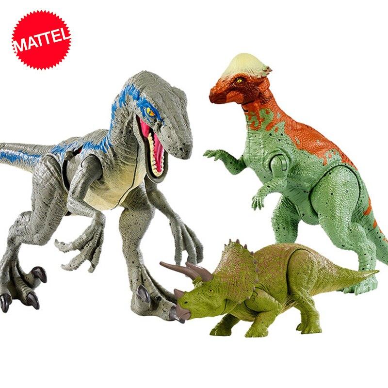 16-20cm Original Jurassic World Toys Attack Pack Velociraptor Triceratops Dragon PVC Action Figure Model Dolls Toys For Children