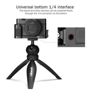 Image 3 - ABKT UURig R017 מיקרופון L סוג ידית אחיזה עבור Sony RX100 VII/M1 M6 אלומיניום L סוגר צלחת כדי מיקרופון LED וידאו אור
