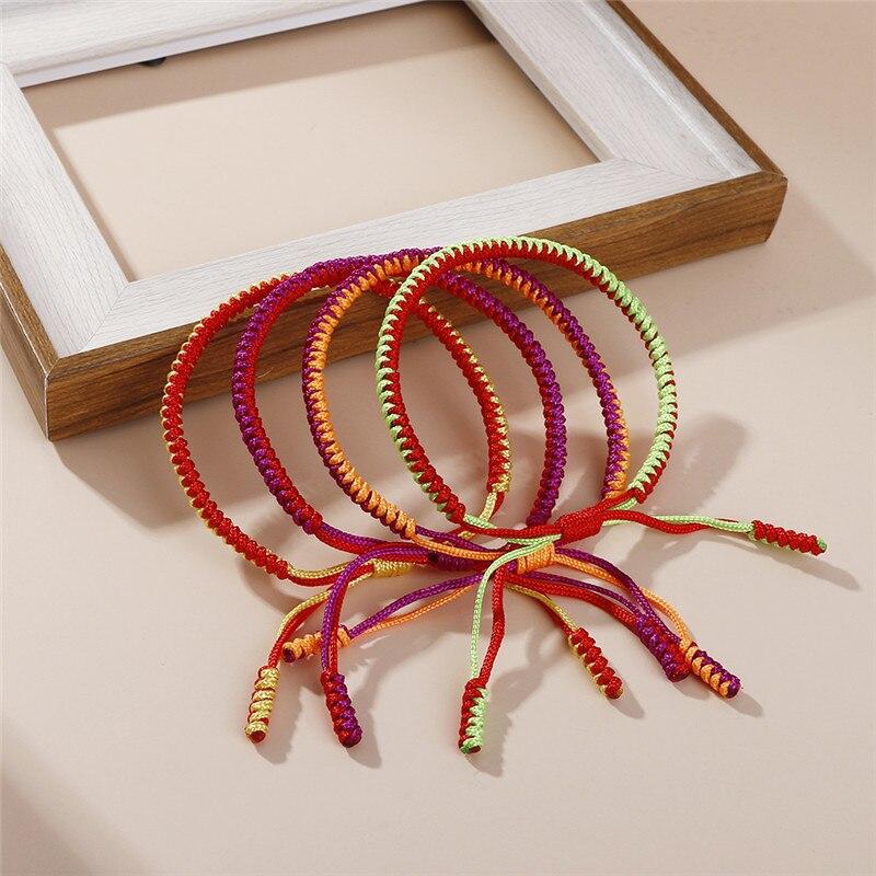 New Handmade Tibetan Buddhist Lucky Braided Rope Charms Bracelets & Bangles For Women Men Adjustable Budda Multi Color Bracelet
