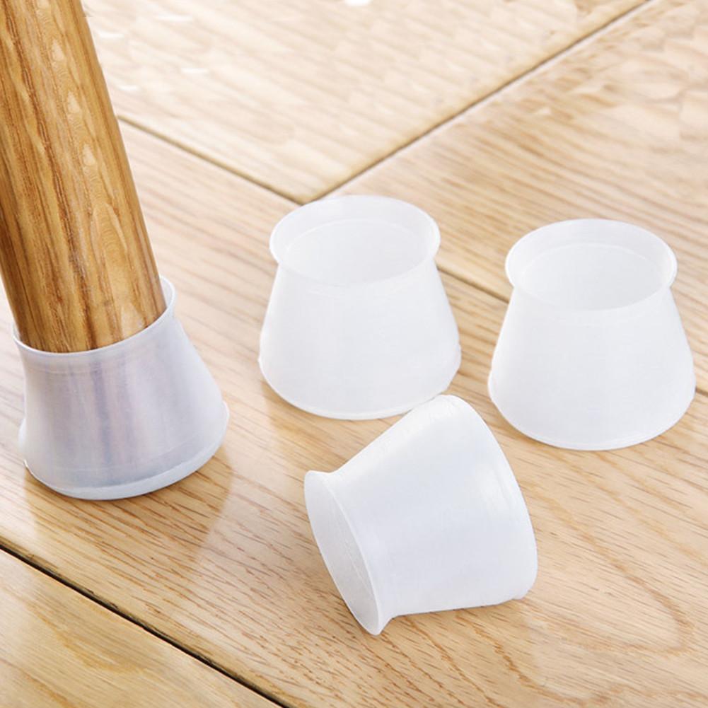 4Pcs Silicone Furniture Table Chair Leg Floor Feet Cap Cover Protector Feet Pads Non-slip Table Chair Leg Caps Foot Protection