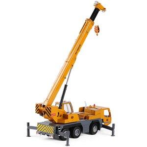Image 3 - Modelo de aleación de grúa de alta calidad 1:50 rueda pesada, coche de juguete de ingeniería deslizante de metal de simulación, regalo educativo, envío Gratis