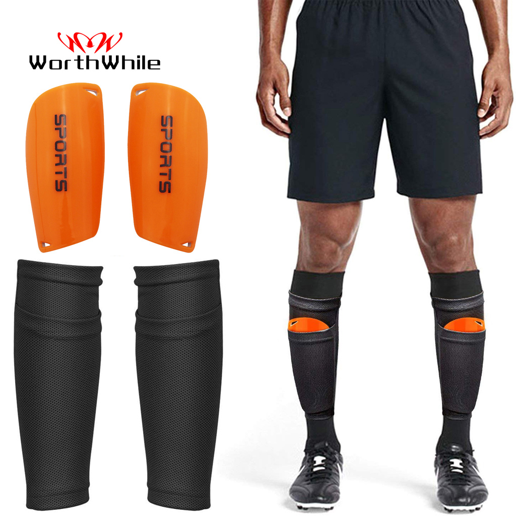 Worthwhile Legging Socks-Pads Protective-Gear Shields Shinguards-Sleeves Soccer Football title=