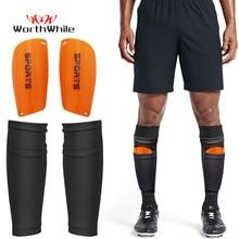 Vale la pena 1 par fútbol espinillera calcetines para adolescentes almohadillas profesional escudo Legging Shinguards mangas equipo protector