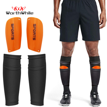 WorthWhile 1 Pair Soccer Football Shin Guard Teens Socks Pads Professional Shields Legging Shinguards Sleeves Protective Gear image