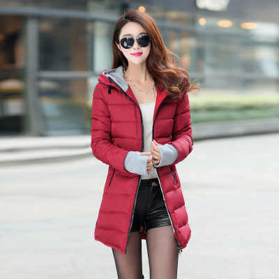 2020 여성 겨울 후드 웜 코트 플러스 사이즈 캔디 컬러 코튼 패딩 자켓 여성 롱 파커 여성 wadded jaqueta feminina