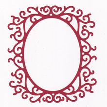 Circle Flower Frame Cutting Dies background Metal Stencil For Card Making Decorative Embossing Suit Paper Cards DIY