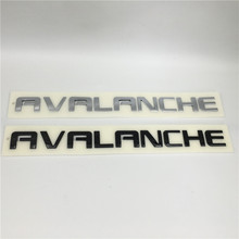NEW For Chevrolet AVALANCHE Front Door or Tailgate Emblem Nameplate 2007-2013 15930828 480 30mm for gmc sierra 2500 3500 hd chrome front lh rh door denali hd nameplate emblem new