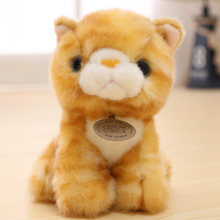 Cat Plush Toys Soft Simulation Stuffed Animals Cute Korean Mini Baby Soft Children Birthday Christmas Gift Decorations AA50MR(China)