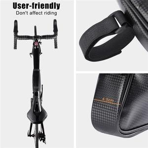 Image 4 - WEST BIKING Waterproof Cycling Tube Bags 3L MTB Road Bike Triangle Bag Cycling Frame Front Bags Repair Tools Pannier Bicycle Bag