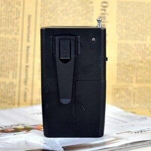 Image 3 - Radio Portable Mini AM FM antenne télescopique Radio poche monde récepteur multifonctionnel Mini Radio