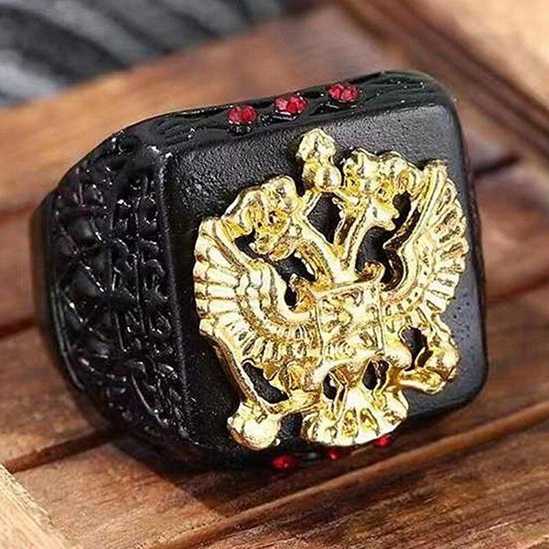 HNSP Российский государственный эмблема Орел раньше мужские ювелирные изделия Новые