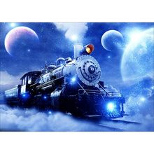 Rhinestone Pictures Train 5D Diamond Painting Motorcycle Full Round Car Embroidery Set
