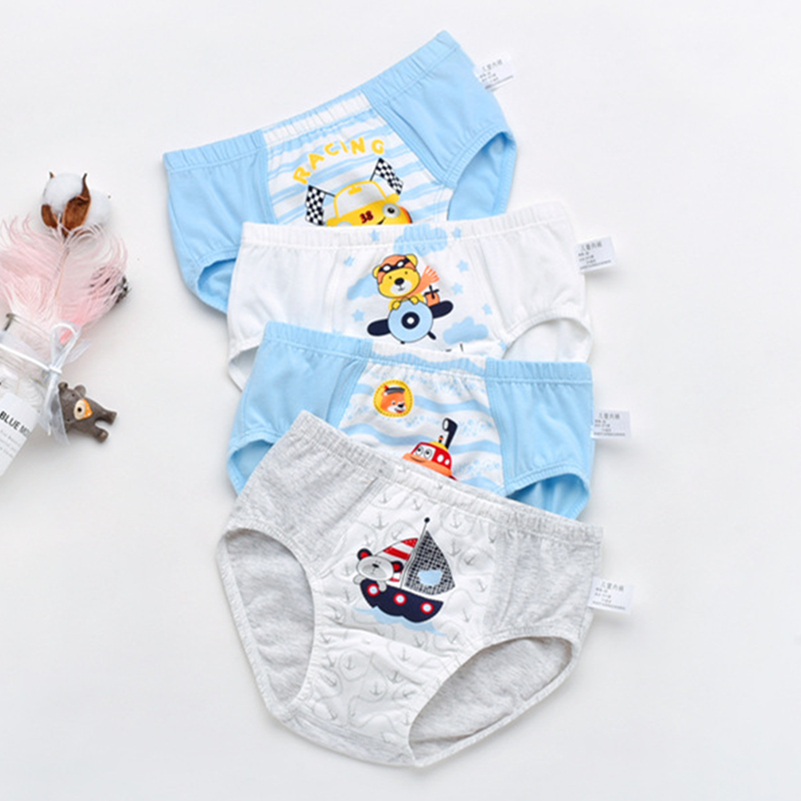 2pcs/lot 2-9years Boys Under Wear Briefs Cotton Underwear Underpants Super  Kids Panties