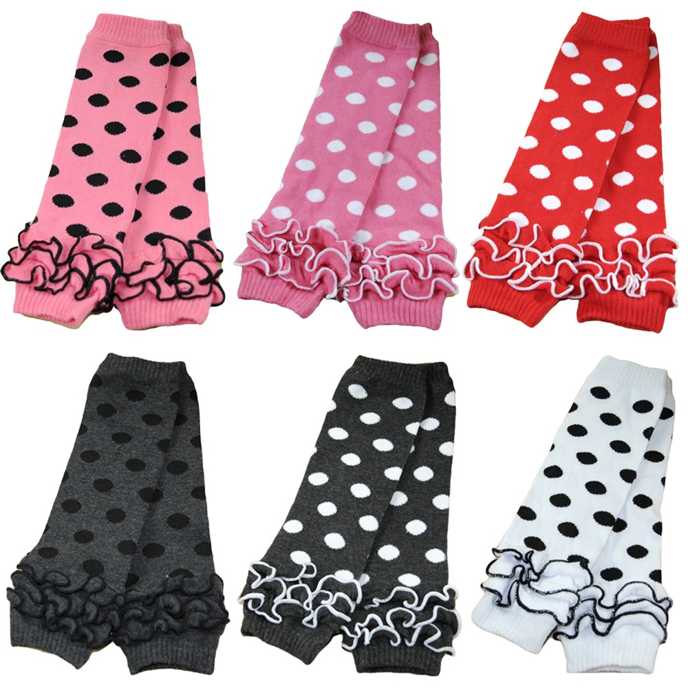 Baby Toddler Girl Kid Polka Dots Flower Cotton Socks Tights Arm Leg Warmers WATXW0031