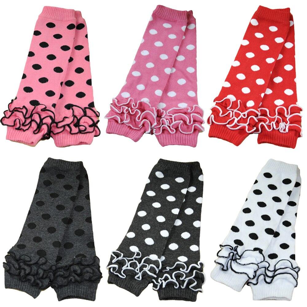 Baby Toddler Girl Kid Polka Dots Flower Cotton Socks Tights Arm Leg Warmers WATXW0031