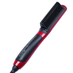 Wielofunkcyjna prostownica do włosów prostownica do włosów ceramiczna prostownica elektryczna Hot Comb pielęgnacja włosów dla mężczyzn prostownica do brody|null|   -