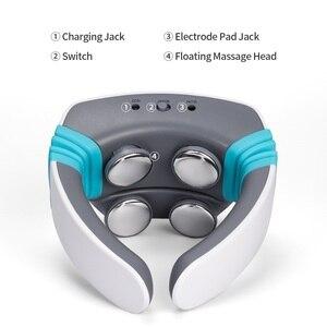 Image 4 - Elektrische puls Akupunktur Neck massager gesundheitsnackenkissen therapie gerät Aufladen patch massage Drahtlose Fernbedienung