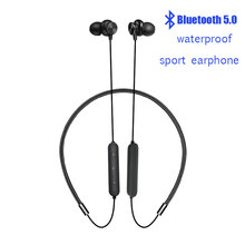 Wireless Bluetooth 5.0 Earphone Sports Neckband Headphone Stereo Earbuds Music Headphones With Mic For   iPhone Samsung Xiaomi bluetooth earphone sports neckband magnetic wireless earphones stereo earbuds music with mic for iphone xiaomi metal headphones