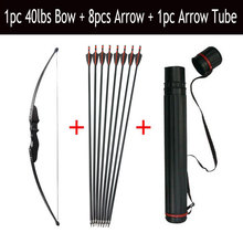 30/40lbs Archery Recurve Bow And Arrow Set 8pcs Fiberglass Arrow Spine 500 With Arrow Quiver RH/LH Shooting Hunting Accessories цена и фото