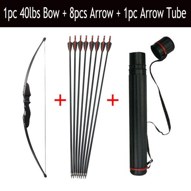 30/40lbs Archery Recurve Bow And Arrow Set 8pcs Fiberglass Arrow Spine 500 With Arrow Quiver RH/LH Shooting Hunting Accessories