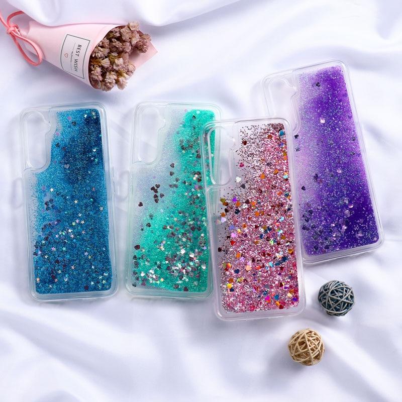 Dynamic Liquid Quicksand Case For OPPO A9 A5 2020 Cases Glitter Phone Fundas OPPO Realme 7 6 5 Pro A5S A53 2020 A5s Cover Coque