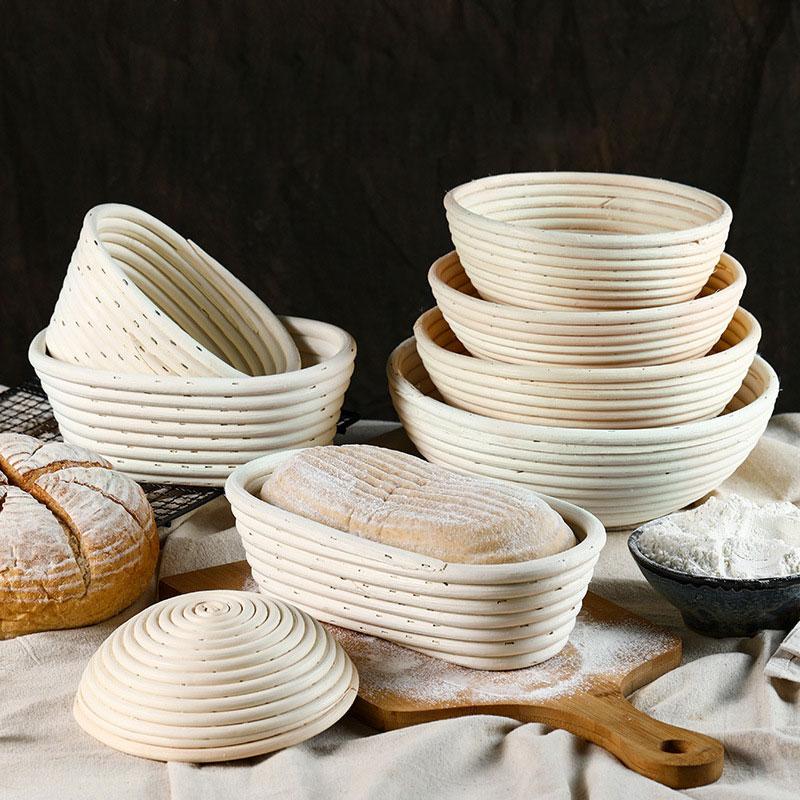 Banneton Bread Basket rattan Proofing mold baking supplies form Wicker bakery kitchen accessories gadget sets tools bakeware