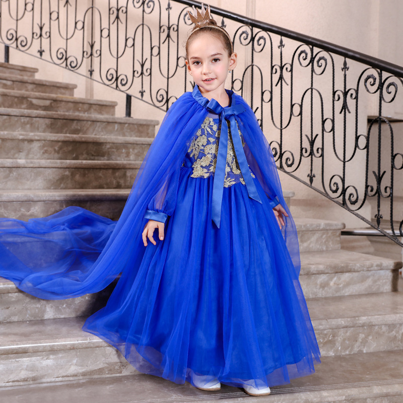 Royal Blue Princess   Flower     Girl     Dresses   Scoop A Line Pearls Tank   Girls   Holy First Communion Gowns Y2-Y12