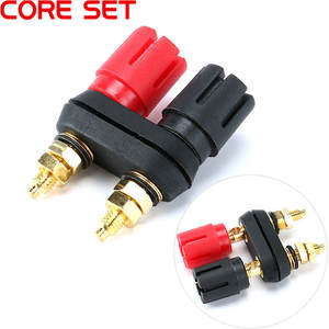 Plug-Jack Connector Terminals Banana-Plugs Couple Top-Selling Black Amplifier Binding-Post