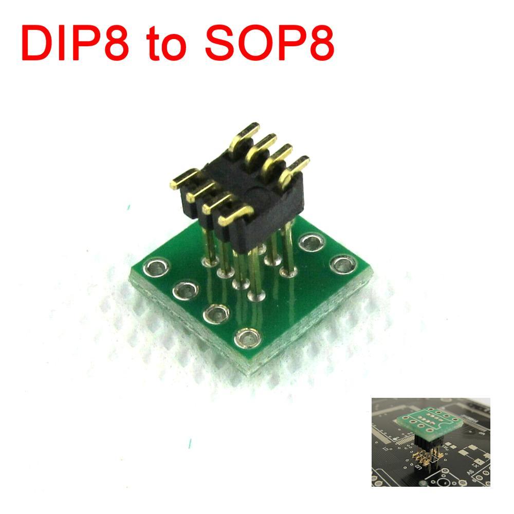 Адаптер DIP8 к SOP8 SOP8 SOIC8 разъем PCB 1,27 мм/2,54 мм адаптер 8pin звуковая карта обновление конвертер плата 2,54 1,27 мм для Op amp