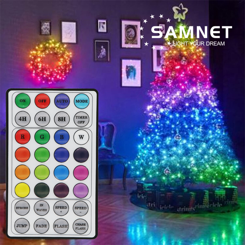 New LED RGB Christmas Fairy Lights 200  Lighting Mode Waterproof Garland String Lights For Outdoor Decoration Holiday Lighting