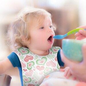 10 шт. детские нагрудники для мальчиков и девочек, бандана, нагрудник, одноразовая ткань, детский шарф, воротник для еды, детские переносные д...