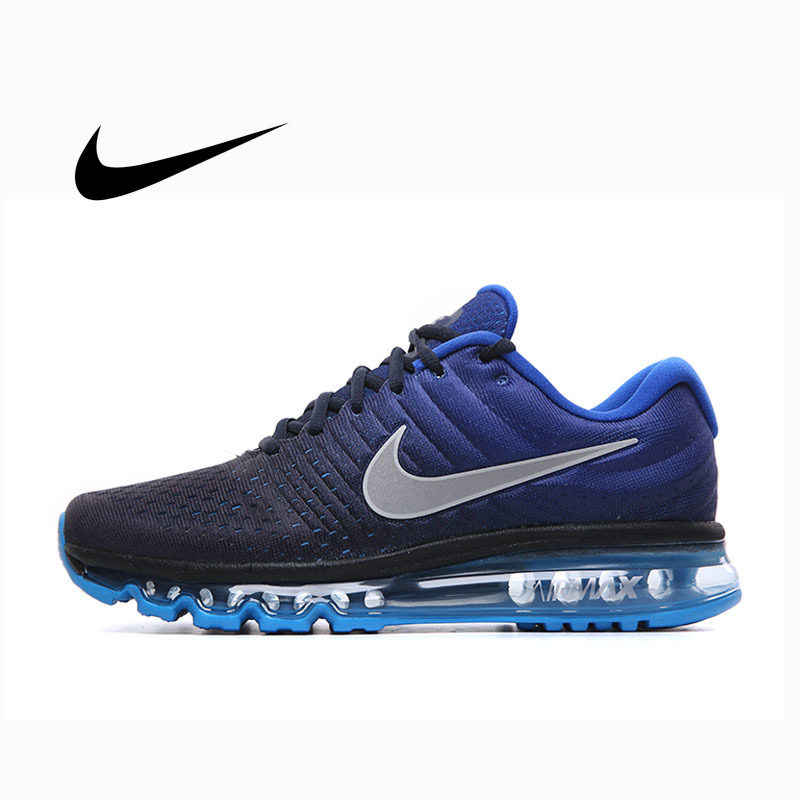 Authentic Nike AIR MAX 2017 Running Shoes For Men Fitness Sneakers Light Cozy Low-top Shockproof Durable High Quality 849559-400