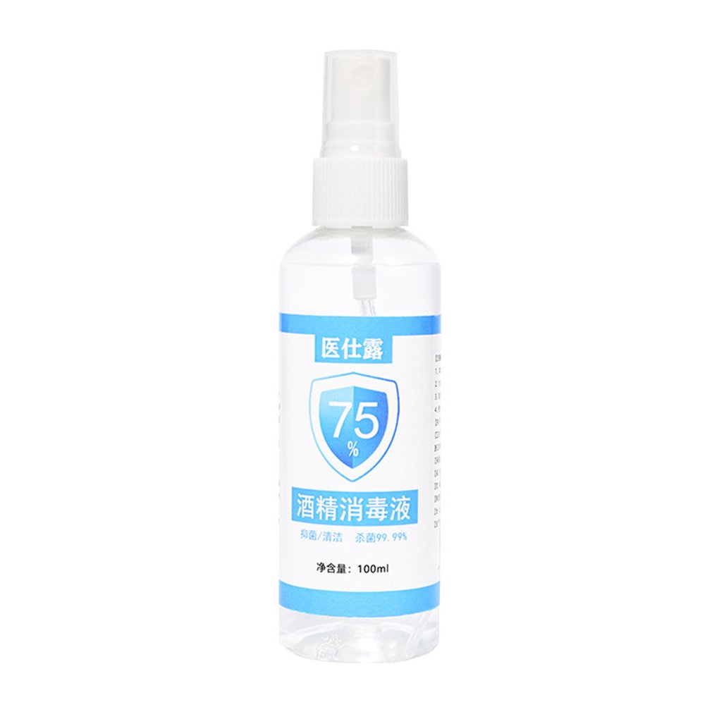 Alcohol Disinfectant 75 Alcohol Spray Disinfection Household Skin Sterilization 100ml Disposable Wash Quick-drying