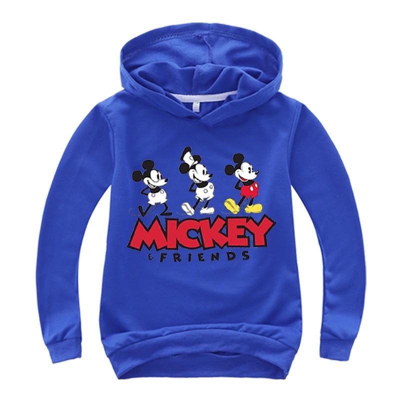 New Autumn mickey minnie mouse Boys Girls casual Sweatshirt Kids Hoodies Long Sleeve Sweatshirt Children Clothes 4