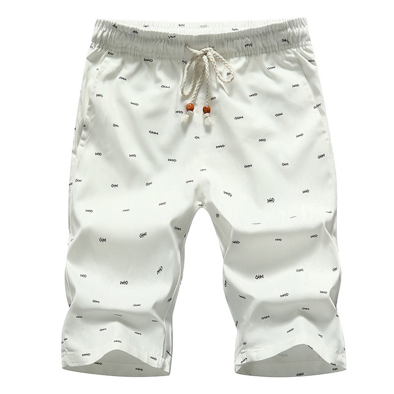 Men's Beach Shorts 2020 New Fashion Summer Casual Printing Lace Up Waist Cotton Breathable Soft Loose Short Pants