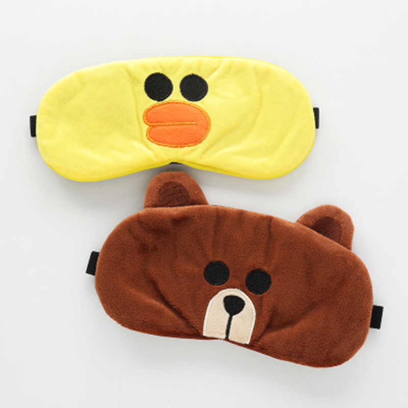 New Cute Sleeping Mask Eyepatch Eye Cover Cotton Creative Cartoon Travel Relax Blindfold Sleep Aid Eye Patch Shading Eye Mask