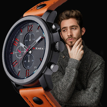O.T.SEA Brand 2019 Casual Sales Men Watches Leather