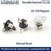 KSD301 10A 115 120 125 130 135 C Graus Celsius Reset Manual Termostato Interruptor de Temperatura Normalmente Fechado de Controle de Temperatura