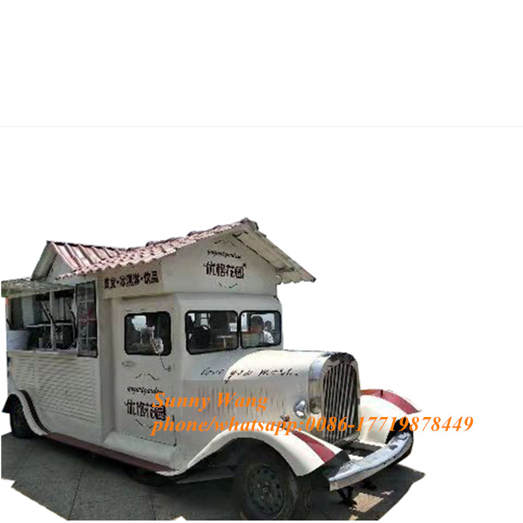 New Design 5.6m Electric Mobile Food Truck Food Trailer Cart With Customized Inside Food Truck For Sale